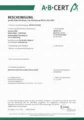 Bio Zertifikat 2016/2017