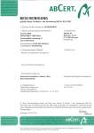 Zertifikat 2014/2015
